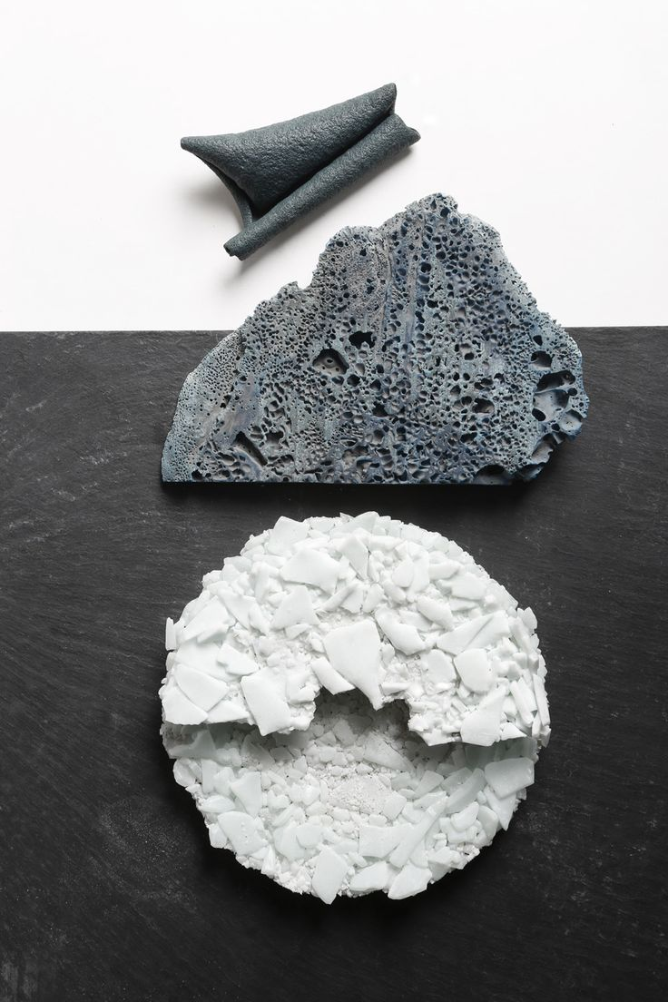 Material exploration SOPHIE ROWLEY reengineered leather, bluefoam glass