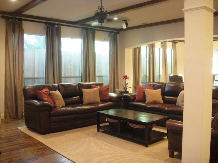 Living Room Ideas Brown Leather Sofa Decorating Clear Regarding Size 4000 X  3000 Cushions To Match