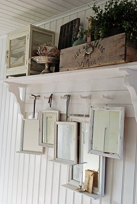 collection of old washstand mirrors