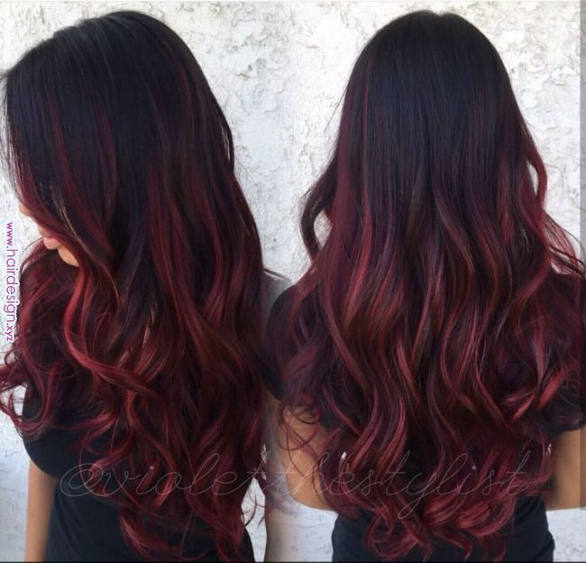 Pin By Jasmine Chai On Hair Things In 2019 Pinterest Red Ombre Dark Red Hair And Hair Pin By Jasmine Chai O Red Balayage Hair Red Ombre Hair Maroon Hair