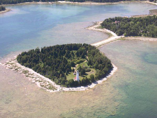 Cana Island Lighthouse, Nearest Location: Baileys Harbor Wisconsin, Image Credit: Door County Visitor Bureau