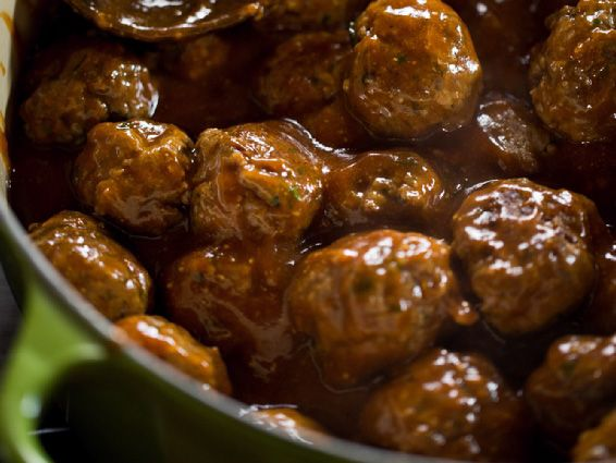 Potluck Meatballs Recipe : Ree Drummond : Food Network try them over noodles or mashed potatoes