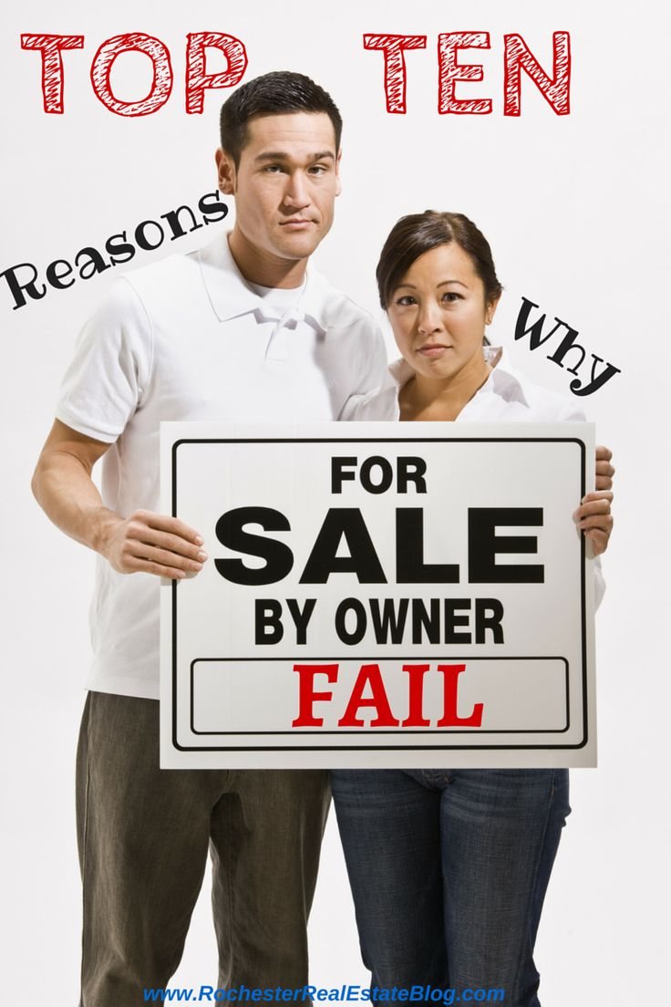 Top 10 Reasons Why For Sale By Owners (FSBOs) Fail in Real Estate - http://www.rochesterrealestateblog.com/top-10-reasons-why-for-sale-by-owners-fsbos-fail-in-real-estate/ via @KyleHiscockRE #realestate #FSBO #homeselling
