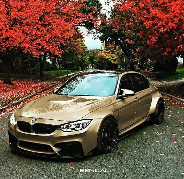 BMW F80 M3 tan widebody fall
