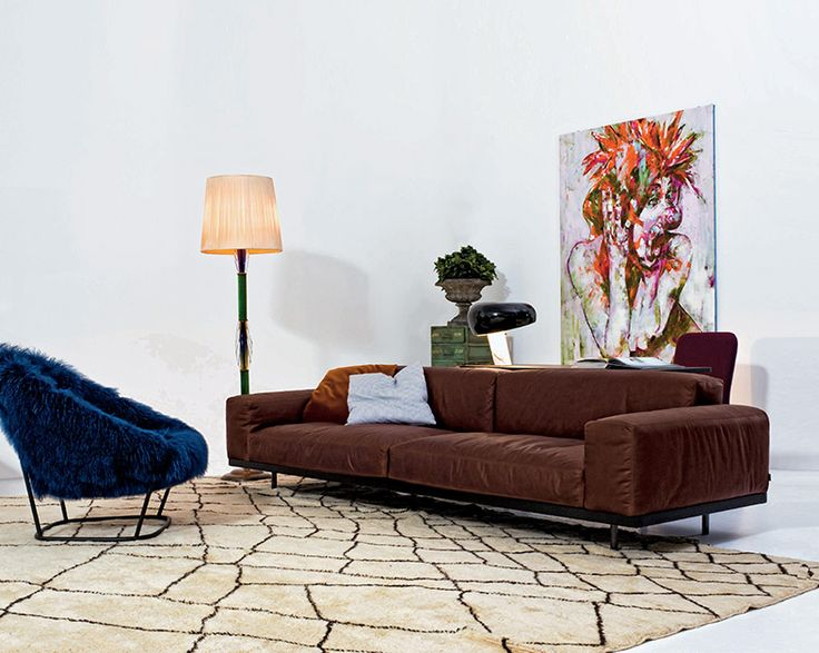 arflex - Naviglio sofa design Umberto Asnago -The original - Katrin armchair design Carlo Colombo #arflex #naviglio #umbertoasnago #theoriginaldesign #carlocolombo #katrin #fur #marcograssi #homearflex #staytuned http://www.arflex.it follow us on istagram pinterest and snapchat @arflexmilano