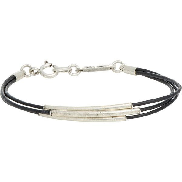 Isabel Marant Leather Triple-Band Bracelet ($59) ❤ liked on Polyvore featuring jewelry, bracelets, schmuck, colorless, leather bangle, clear crystal jewelry, leather jewelry, isabel marant and clear jewelry
