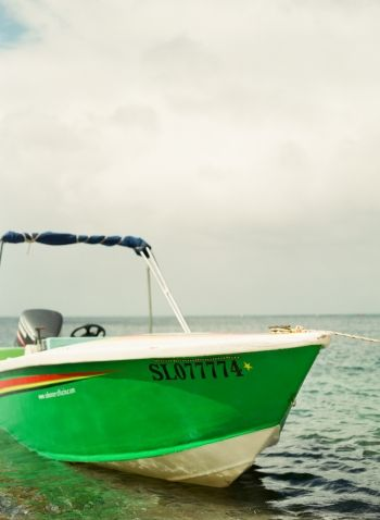 Green Boat at Sugar Beach Hotel in St Lucia