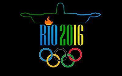 壁紙をダウンロードする ブラジル, エンブレム, オリンピック, ロゴ, 2016年, 2016年リオデジャネイロ, 夏季オリンピック