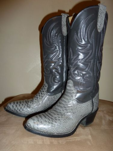 Beautiful-Texas-Cowboy-Boots-2-Tone-Grey-Leather-Gorgeous-M-7-5-W-9-USA