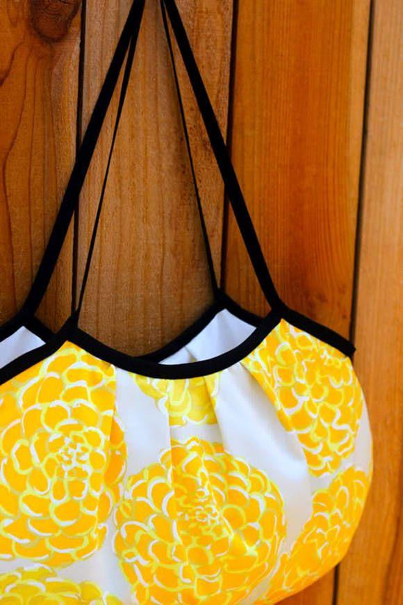 Easy Sewing Tutorial -  Bias Tape Bag