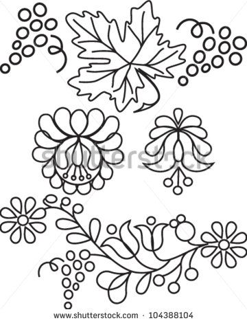hungarian folk art embroidery design - Google Search