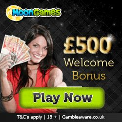 Moon Games £500 New Player Bonus And Free Games! A Few Of The Free Games Available To Enjoy Bejeweled, X Factor, Dolphin Reef, Monopoly, Irish Eyes, Cleopatra, Gonzo's Quest, Wheel Of Fortune! If you play online games then you really need to try this! http://www.initto-winit.com/games/moon-games/