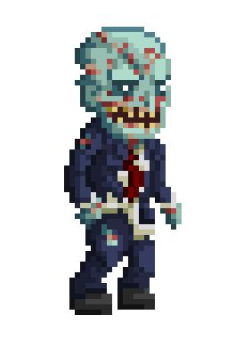 Zombie walk - pixel by Genbaku