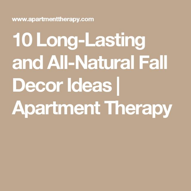 10 Long-Lasting and All-Natural Fall Decor Ideas | Apartment Therapy