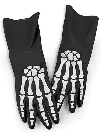 X-Ray Hands Skeleton Kitchen Gloves | PLASTICLAND
