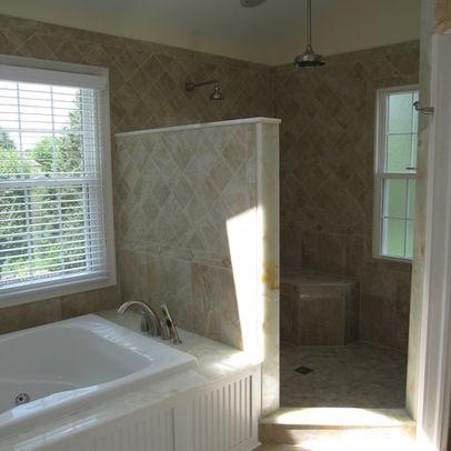 Bathroom Doorless Showers Design, Pictures, Remodel, Decor and Ideas