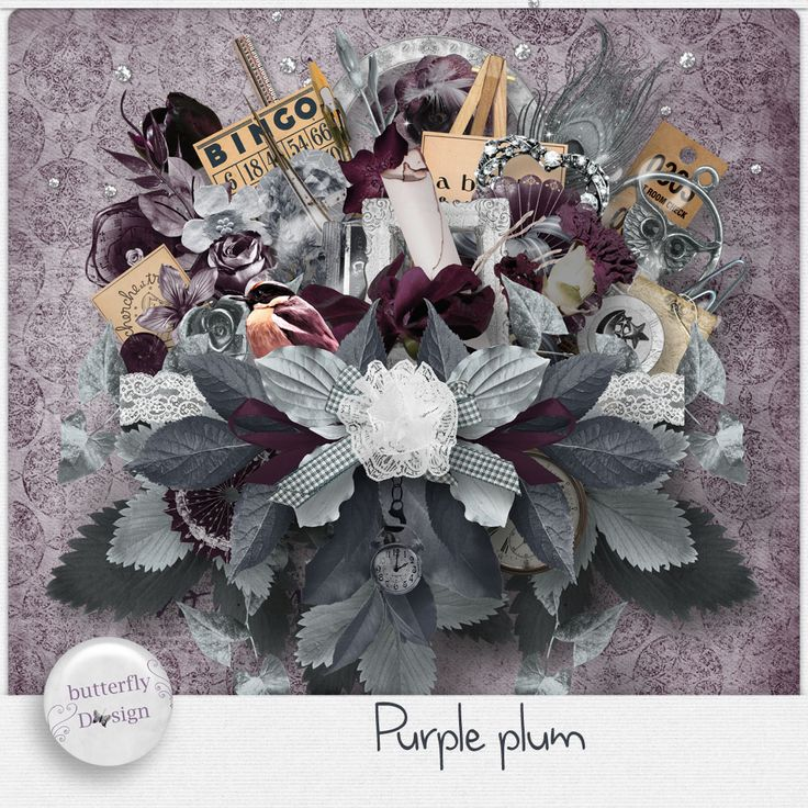 Digital Art :: Kits :: Purple Plum [Page kit] by butterflyDsign