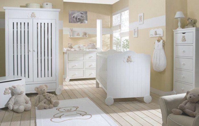 jolie idee pour les meubles dans la chambre bébé mixte, chambre bebe pas cher