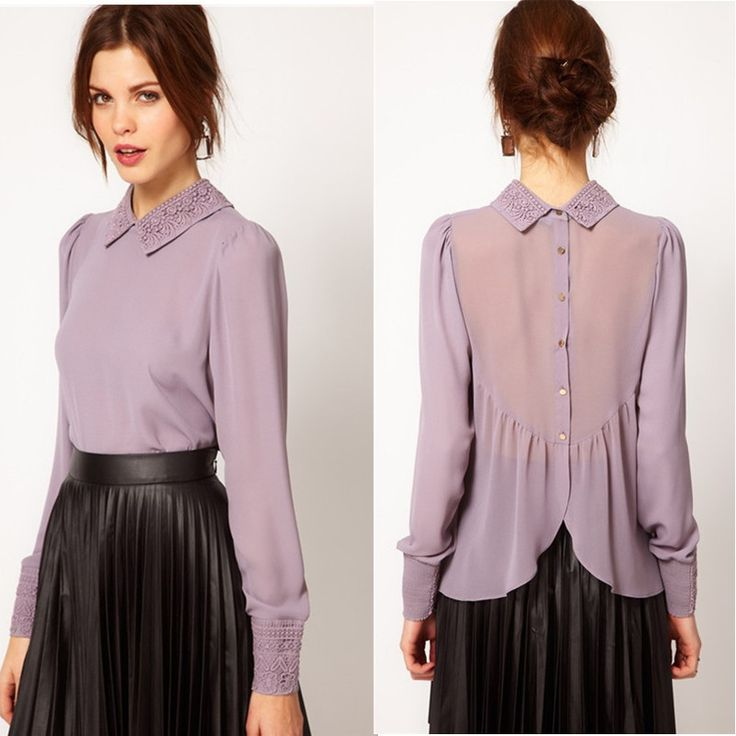 shirt collar women - Google Search