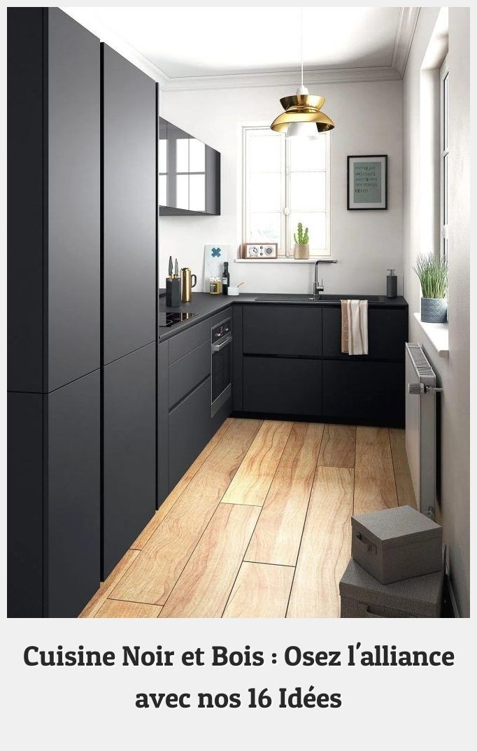Modern Kitchens 42744 With Its Matt Black Fronts Without Handles This Kitchen Is Betti Modern Black Kitchen Kitchen Design Small Contemporary Kitchen Cabinets