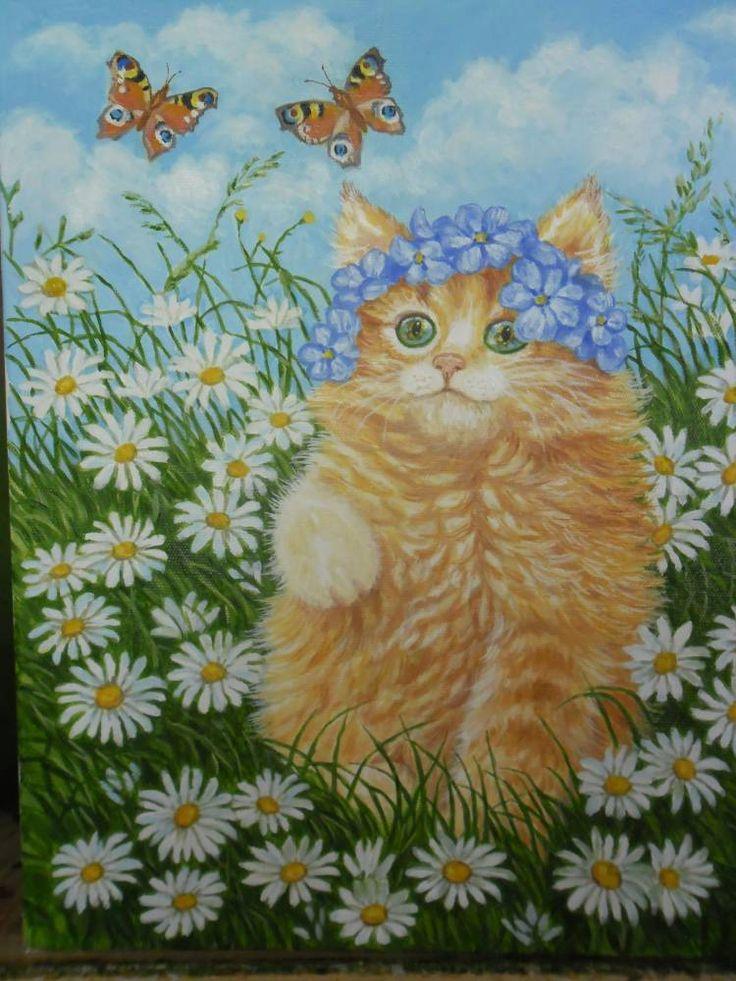 Ромашковая кошка картинки