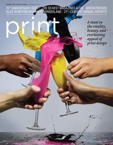 "Portada a todo ""color"" de la revista print"
