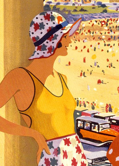 Image detail for -1930s Vintage Beach Travel Poster - Australia - 16x24 | eBay