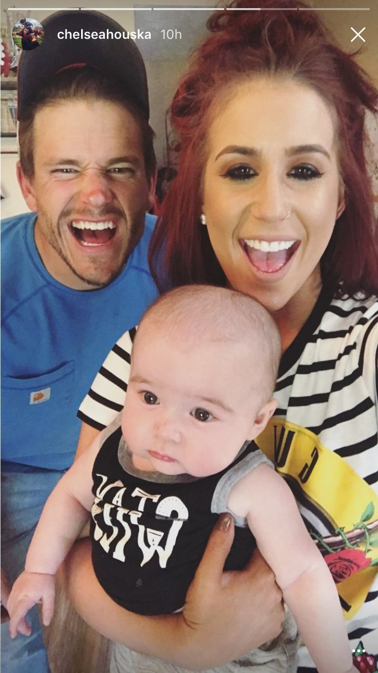 Cole, Chelsea, and baby Watson!