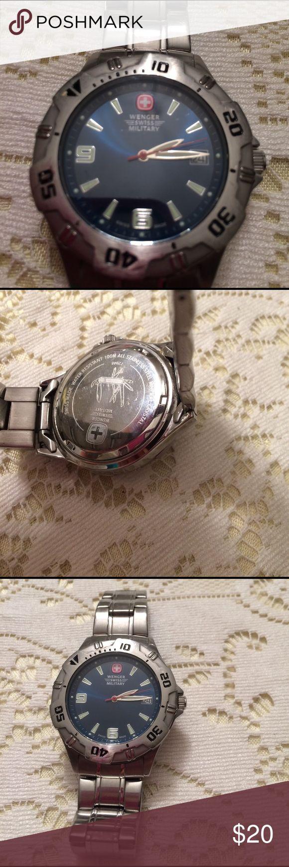 Watch Men's Webber Swiss Military watch. Needs battery. Wenger Swiss Military Accessories Jewelry