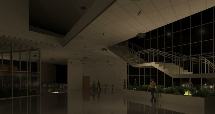 entrance lobby. fashion academy , revit work