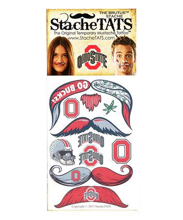 Take a look at this Ohio State Mustache Tattoo - Set of Two by StacheTATS on #zulily today!