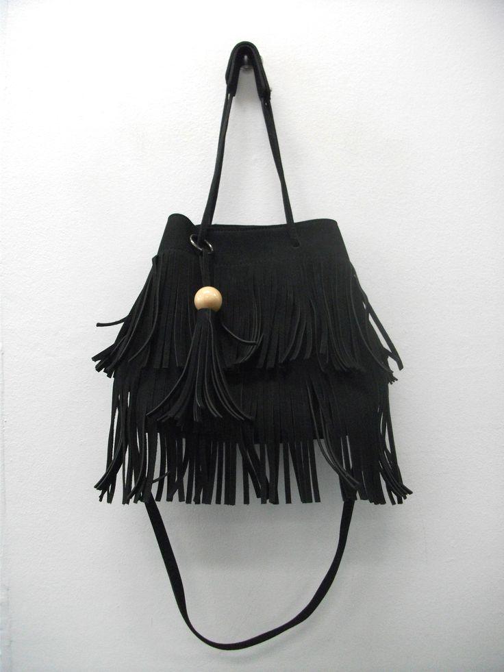BG65739 Edgy fringe bag