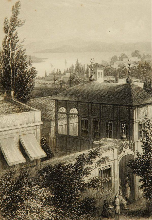 Galata Mevlevi House, Istanbul, 1848, A.H.Payne (Galata ...