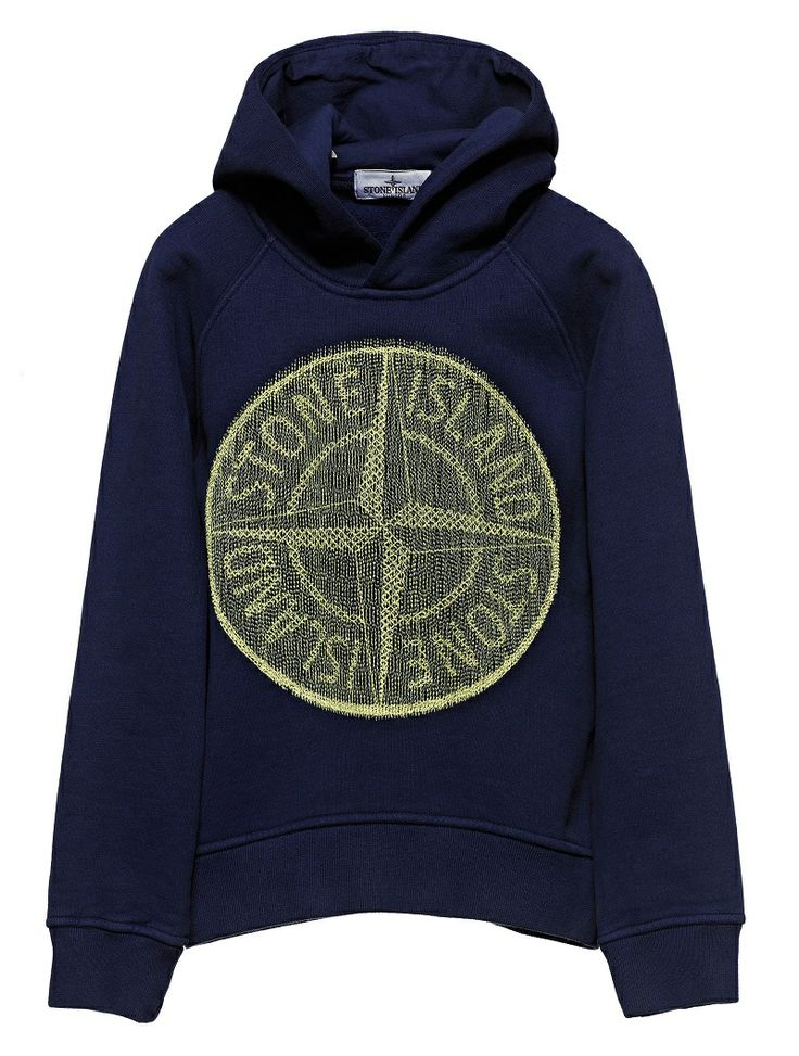 62040 Hooded sweatshirt in cotton fleece.  Large Stone Island compass logo embroidered on the front.  Garment dyed with an iridescent effect.