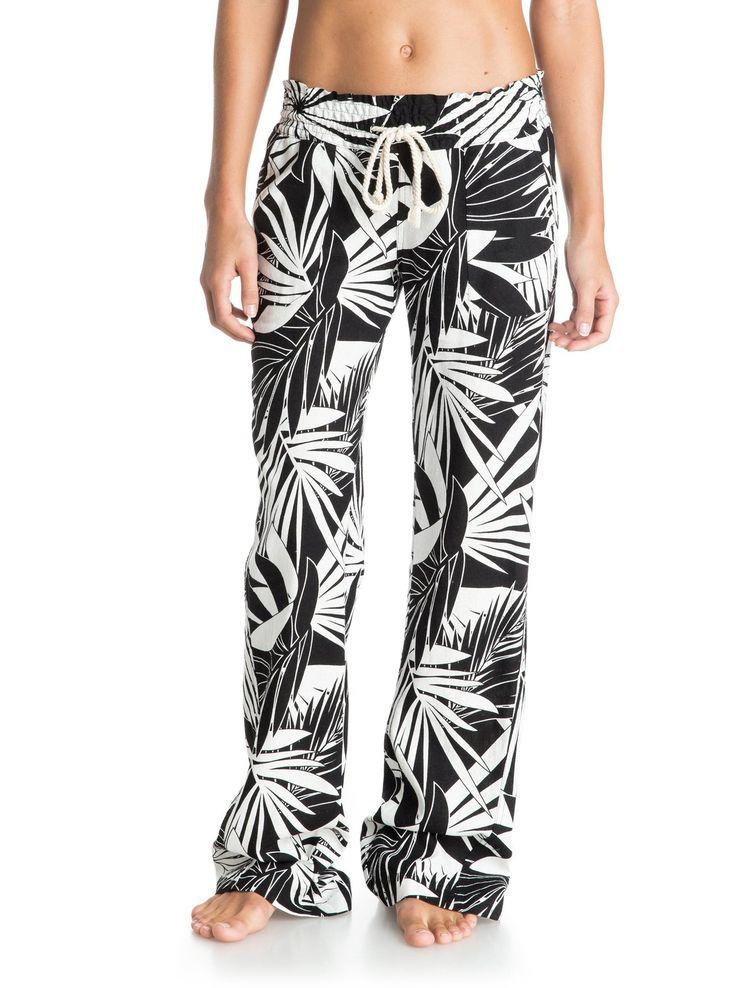 roxy, Oceanside Printed Beach Pants, Egret-6 (wbs6)