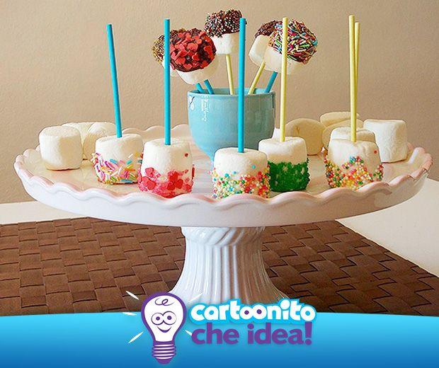 MARSHMALLOW GOLOSI  #CartoonitoCheIdea #Cartoonito #food #ricette #dolci #torta #cake #merenda #idee #kids #bambini #genitori #marshmallow