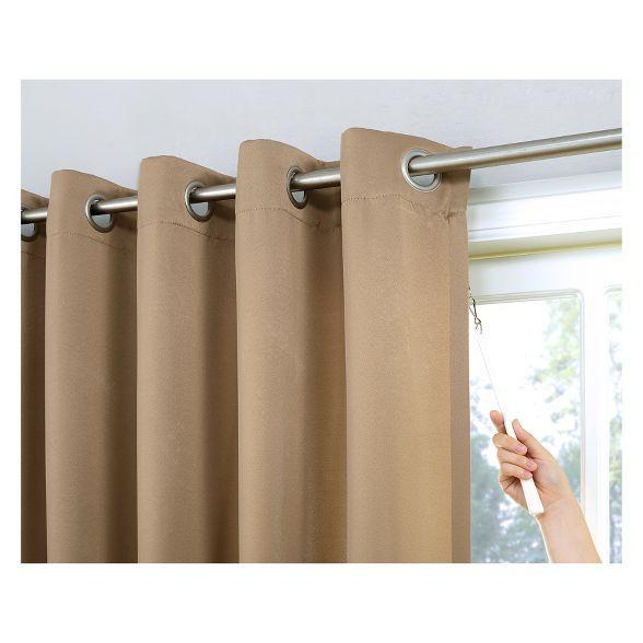 84 X100 Kenneth Extra Wide Blackout Grommet Top Door Curtain Panel Sun Zero In 2020 Sliding Patio Doors Patio Door Curtains Door Curtains