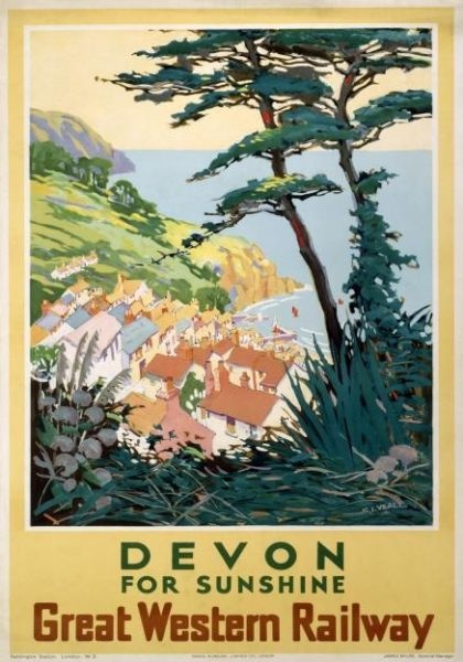Devon for Sunshine, GWR poster, 1923-1947.