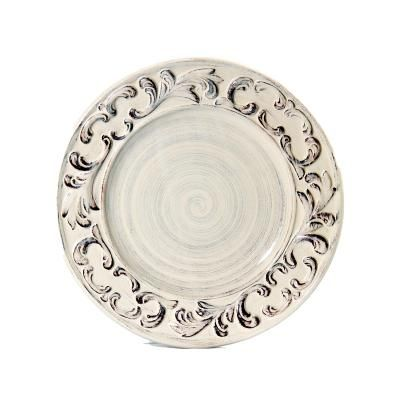 Baroque Cream Dinner Plate