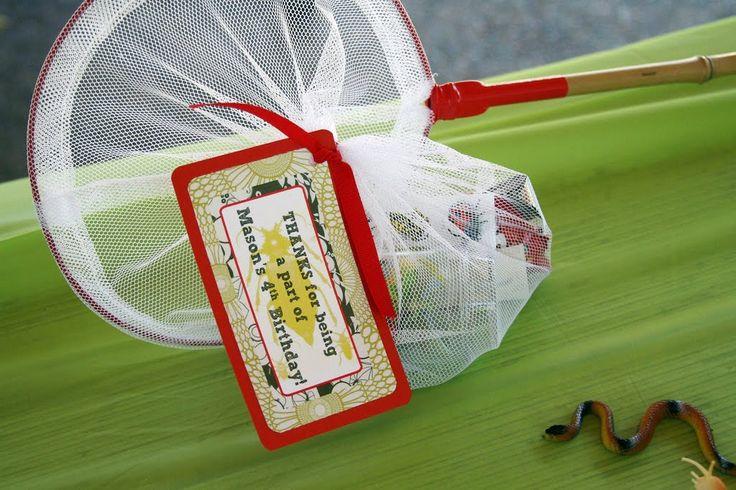 Kids bugs party flavors idea