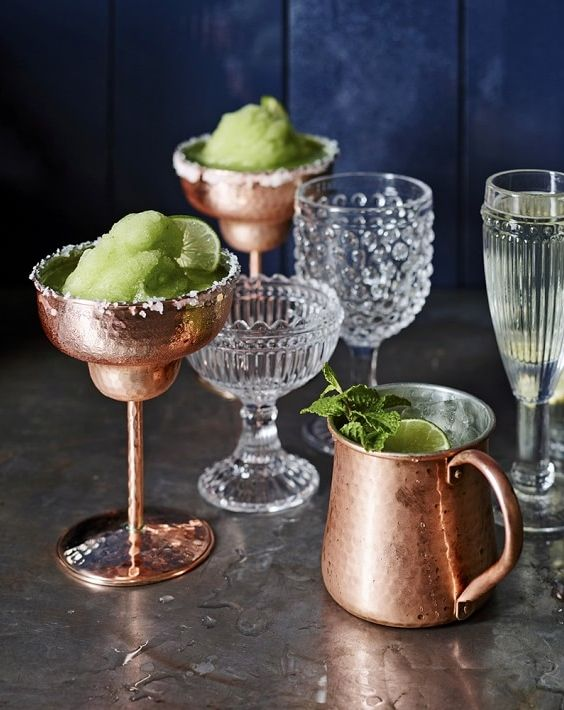 Hammered copper margarita glass for your summer sips.