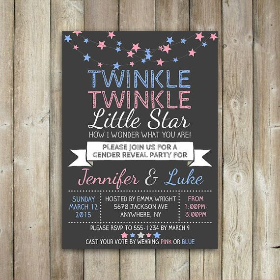 36 best images about gender reveal on pinterest | gender reveal, Baby shower invitations