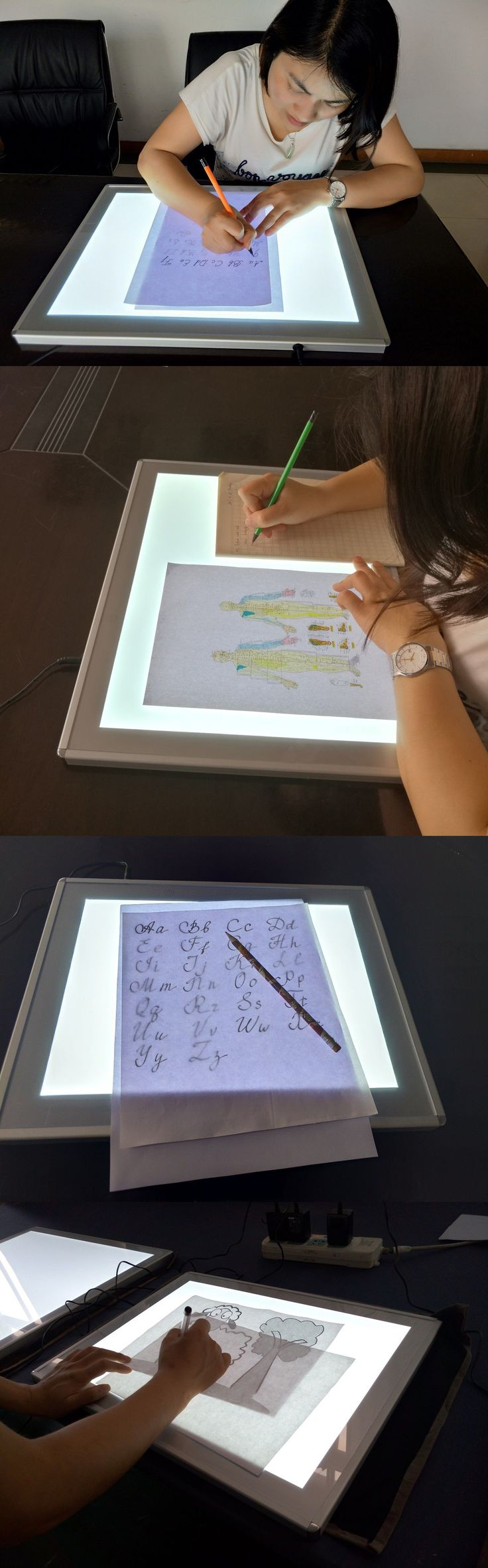Art Projectors and Light Boxes 183086: Junlon A3 Trace Pad Aluminum Frame 12X17 Inch Light Box Light Pad For Artists -> BUY IT NOW ONLY: $92.66 on eBay!