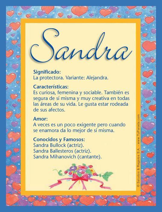 Sandra, imagen de Sandra