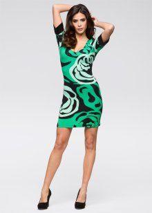 Трикотажное платье, BODYFLIRT, нефритовый/бирюзовый