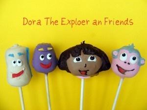 Dora and friends cake pops