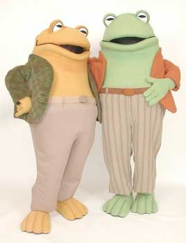 Frog and Toad Custom Mascot Costume Character. Mascot Rental available for promotional use at schools, libraries, and bookstores.