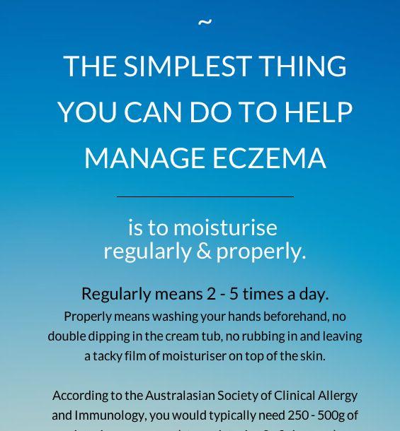 Simplest way to help manage eczema is to moisturise! So true