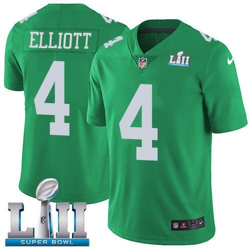 5adcde127 Nike Eagles  4 Jake Elliott Green Super Bowl LII Men s Stitched NFL Limited  Rush Jersey