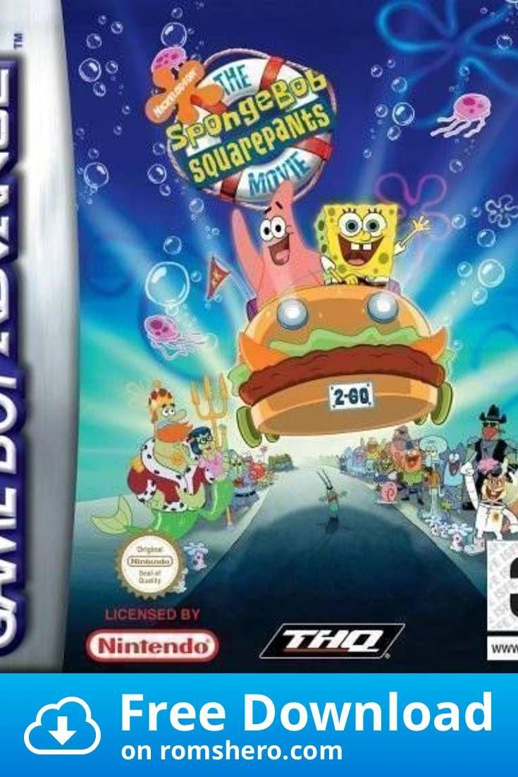 Download The Spongebob Squarepants Movie Gameboy Advance Gba Rom Gameboy Advance Gameboy Spongebob